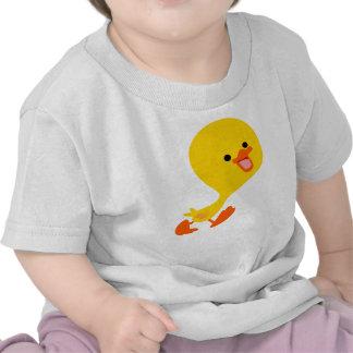 Camiseta linda del bebé del anadón del dibujo anim
