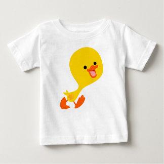 Camiseta linda del bebé del anadón del dibujo playera