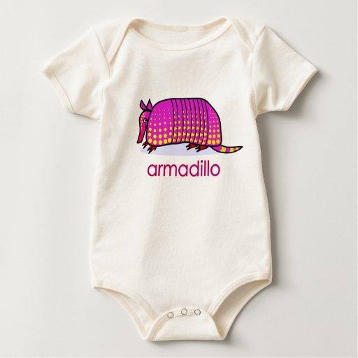 Camiseta linda del bebé del armadillo