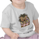 Camiseta linda del bebé del cerdo del seto