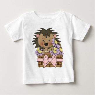 Camiseta linda del bebé del cerdo del seto remera