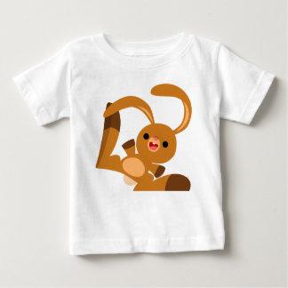 Camiseta linda del bebé del conejo del dibujo polera