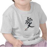 """Camiseta linda del bebé del kanji del """" ai-amor"""""""