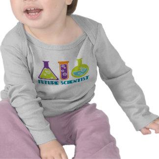 Camiseta linda del bebé del laboratorio de los