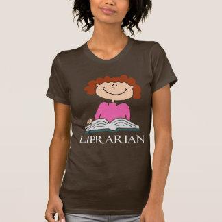 Camiseta linda del bibliotecario playeras
