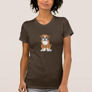 Camiseta linda del boxeador del dibujo animado