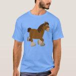 Camiseta linda del caballo de condado del dibujo