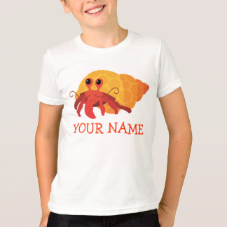 Camiseta linda del cangrejo de ermitaño del dibujo