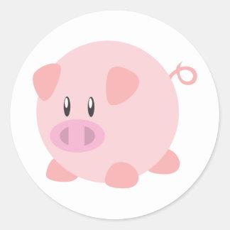 Camiseta linda del cerdo, camisetas, regalos del pegatina redonda