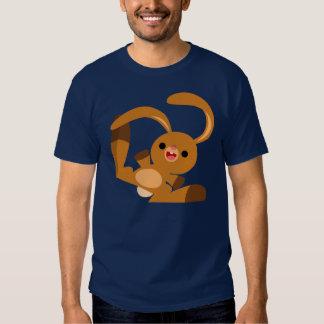 Camiseta linda del conejo del dibujo animado del camisas