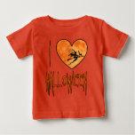 Camiseta linda del corazón de Halloween Playera