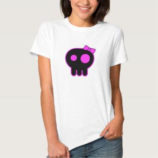 Camiseta linda del cráneo playera