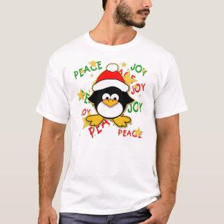 Camiseta linda del día de fiesta del pingüino del