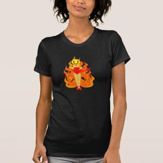 Camiseta linda del diablo del arte pop remeras