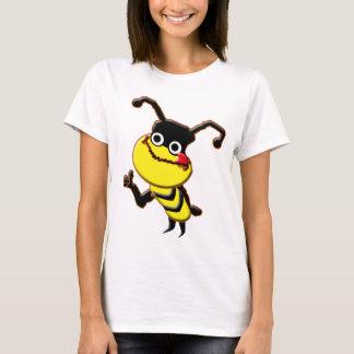 Camiseta linda del dibujo animado de la abeja