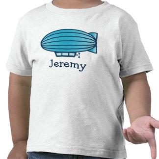 Camiseta linda del dibujo animado del zepelín del