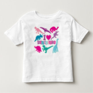 Camiseta linda del dinosaurio - rosada, púrpura, camisas