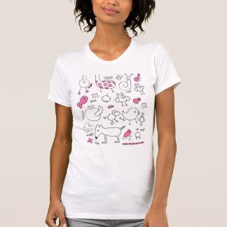 Camiseta linda del doodle con el estampado de