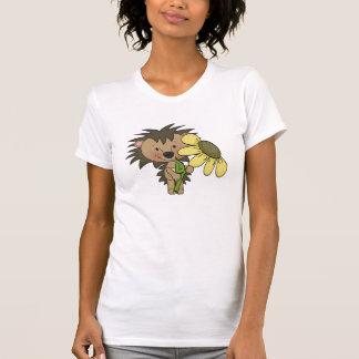 Camiseta linda del erizo para mujer poleras