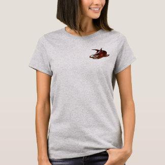 camiseta linda del friki del diseño del tiburón