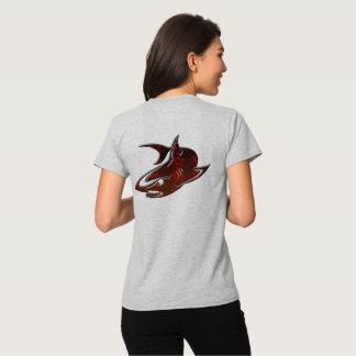 camiseta linda del friki del diseño del tiburón camisas