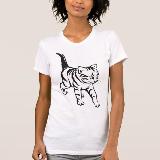Camiseta linda del gato playera
