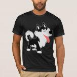 Camiseta linda del husky siberiano del dibujo