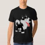 Camiseta linda del husky siberiano del dibujo playera