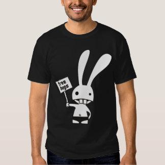 camiseta linda del lado del doble del conejito playera
