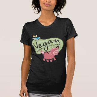Camiseta linda del mensaje del vegano