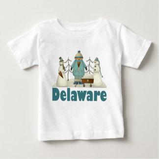 Camiseta linda del muñeco de nieve de Delaware Playera Para Bebé