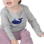 Camiseta linda del niño de la ballena