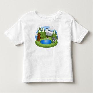 Camiseta linda del niño de la fauna