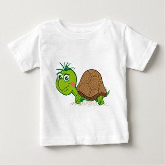 Camiseta linda del niño de la tortuga playeras