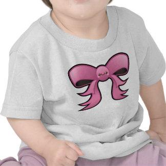 Camiseta linda del niño del arco del rosa de
