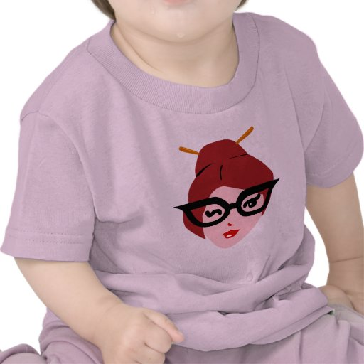 Camiseta linda del niño del chica del friki