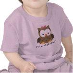 Camiseta linda del noctámbulo de la niña