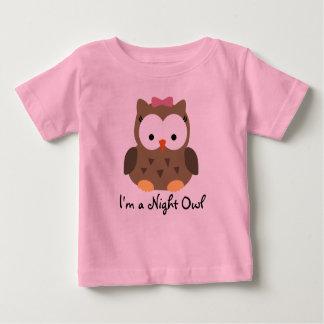 Camiseta linda del noctámbulo de la niña playera