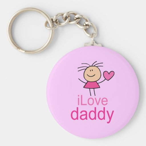 Camiseta linda del papá del amor de I Llavero Redondo Tipo Pin