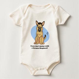 Camiseta linda del pastor alemán del perro del enteritos