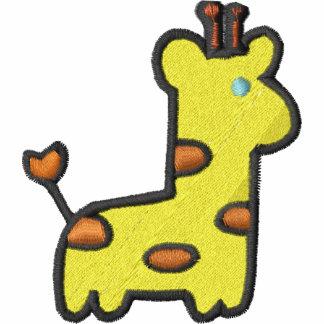 Camiseta linda del pecho y de la manga de la jiraf