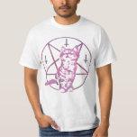 Camiseta linda del Pentagram y del gatito Playeras
