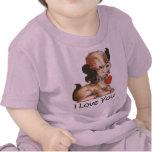 Camiseta linda del perrito de la tarjeta del día