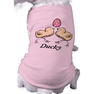 Camiseta linda del perro de los polluelos de Pascu Playera Sin Mangas Para Perro