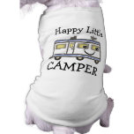 Camiseta linda del perro de perrito el acampar/del ropa de perro
