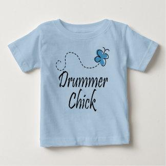 Camiseta linda del polluelo del batería del bebé camisas