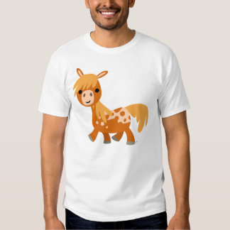 Camiseta linda del potro del Appaloosa del dibujo Playera