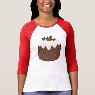 Camiseta linda del pudín del navidad polera