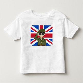 Camiseta linda del soldado del ejército británico