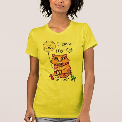 Camiseta linda del Tabby del amante del gato